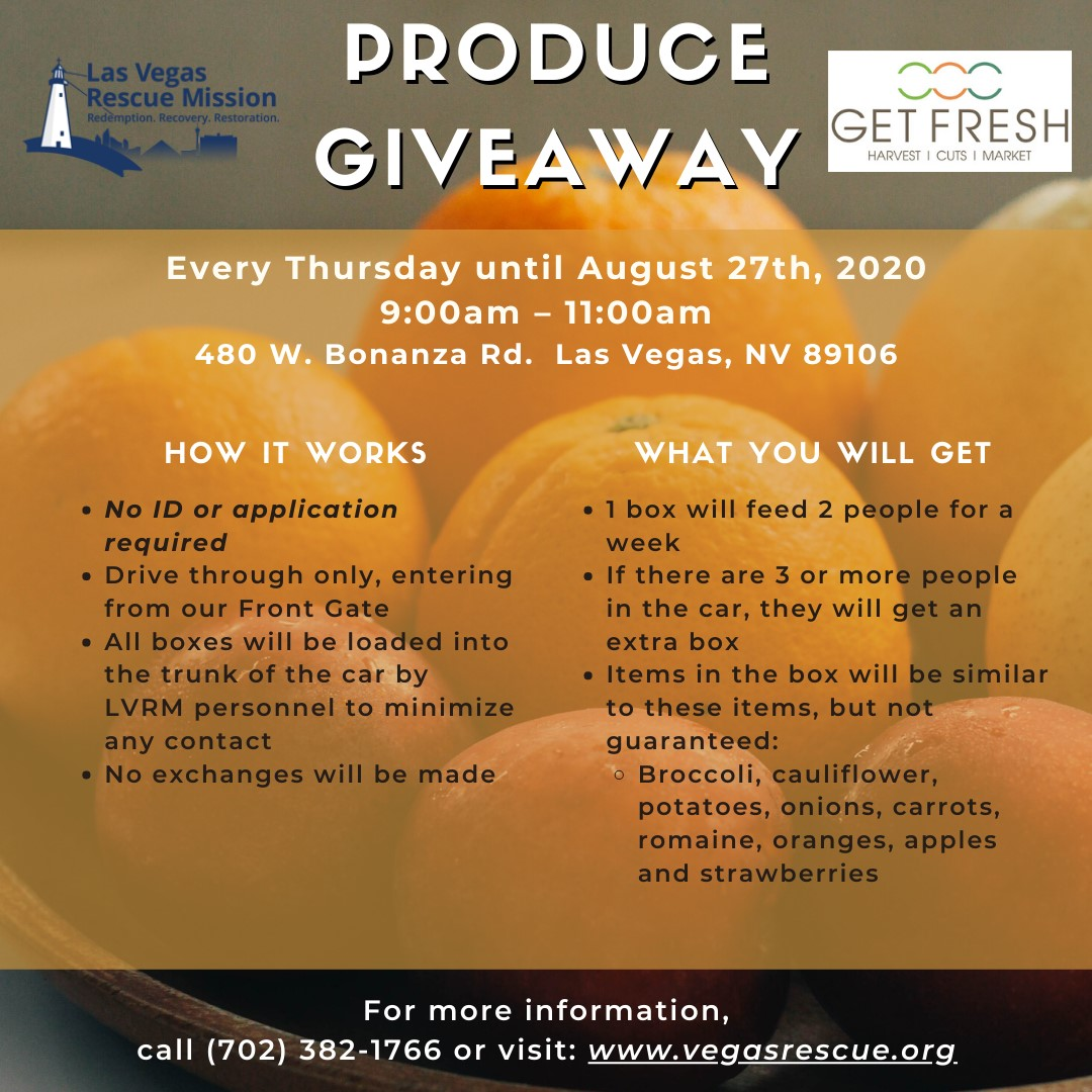 produce giveaway lasvegas mission